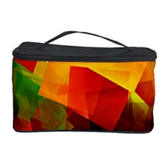 Indian Summer Cubes Cosmetic Storage Case by designworld65