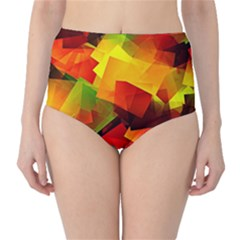 Indian Summer Cubes High Waist Bikini Bottoms by designworld65
