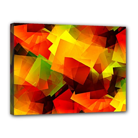 Indian Summer Cubes Canvas 16  X 12  by designworld65
