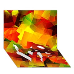 Indian Summer Cubes Love Bottom 3d Greeting Card (7x5) by designworld65