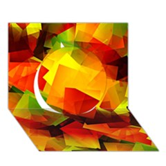 Indian Summer Cubes Circle 3d Greeting Card (7x5) by designworld65