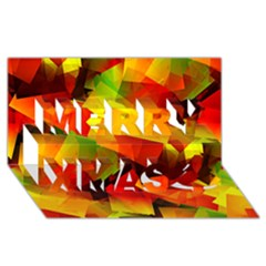 Indian Summer Cubes Merry Xmas 3d Greeting Card (8x4) by designworld65