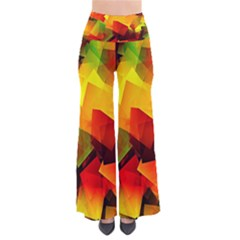 Indian Summer Cubes Women s Chic Palazzo Pants