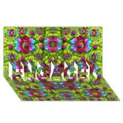 Freedom In Colors And Floral Engaged 3d Greeting Card (8x4) by pepitasart