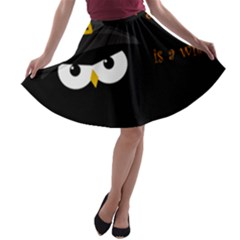 Who Is A Witch? A Line Skater Skirt by Valentinaart