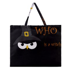 Who Is A Witch? Zipper Large Tote Bag by Valentinaart