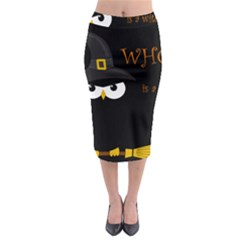 Who Is A Witch? Midi Pencil Skirt by Valentinaart