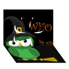 Who Is A Witch?   Green Clover 3d Greeting Card (7x5) by Valentinaart