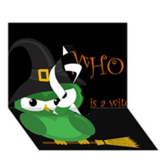 Who Is A Witch?   Green Ribbon 3d Greeting Card (7x5)