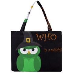 Who Is A Witch?   Green Mini Tote Bag by Valentinaart