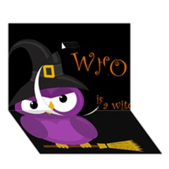 Who Is A Witch?   Purple Circle 3d Greeting Card (7x5) by Valentinaart