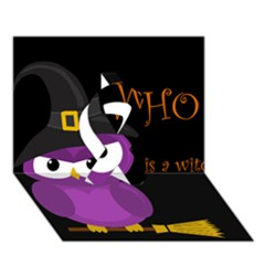 Who Is A Witch?   Purple Ribbon 3d Greeting Card (7x5) by Valentinaart