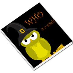 Who Is A Witch?   Yellow Small Memo Pads by Valentinaart