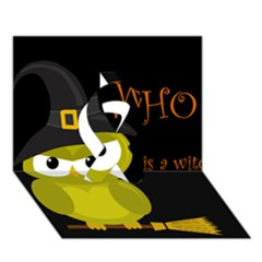 Who Is A Witch?   Yellow Ribbon 3d Greeting Card (7x5) by Valentinaart