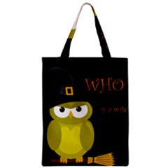 Who Is A Witch?   Yellow Zipper Classic Tote Bag by Valentinaart
