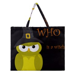 Who Is A Witch?   Yellow Zipper Large Tote Bag by Valentinaart