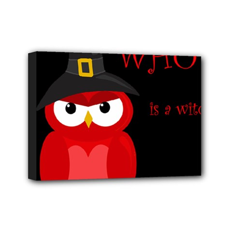 Who Is A Witch?   Red Mini Canvas 7  X 5  by Valentinaart
