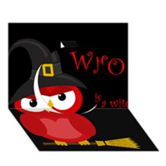 Who Is A Witch?   Red Circle 3d Greeting Card (7x5) by Valentinaart