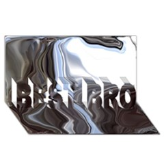 Metallic And Chrome Best Bro 3d Greeting Card (8x4) by digitaldivadesigns