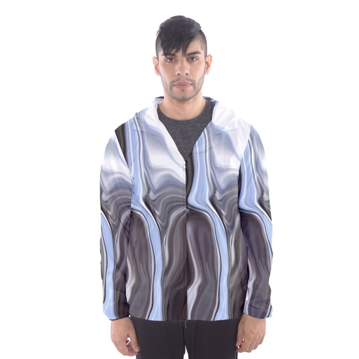 Metallic and Chrome Hooded Wind Breaker (Men)