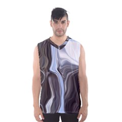 Metallic And Chrome Men s Basketball Tank Top