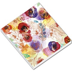 Watercolor Spring Flowers Background Small Memo Pads by TastefulDesigns