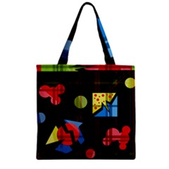 Playful Day Zipper Grocery Tote Bag