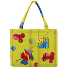 Playful Day   Yellow  Mini Tote Bag by Valentinaart
