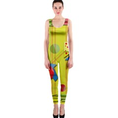 Playful Day   Yellow  Onepiece Catsuit