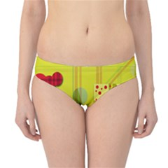 Playful Day - Yellow  Hipster Bikini Bottoms by Valentinaart