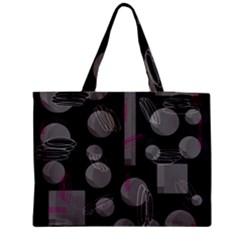 Come Down   Magenta Medium Zipper Tote Bag by Valentinaart