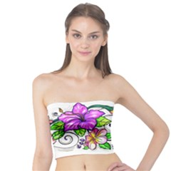 Tropical Hibiscus Flowers Tube Top by EverIris