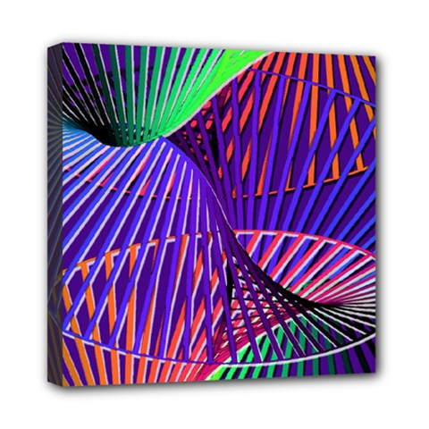 Colorful Rainbow Helix Mini Canvas 8  X 8  by designworld65