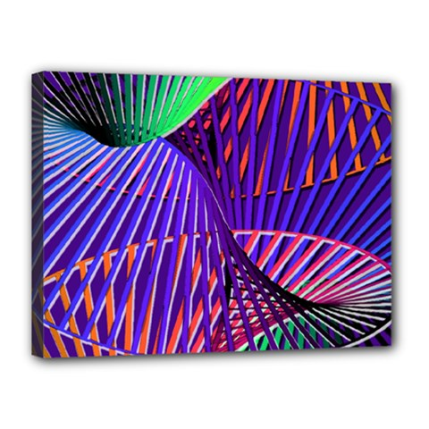 Colorful Rainbow Helix Canvas 16  X 12  by designworld65