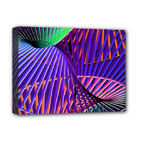 Colorful Rainbow Helix Deluxe Canvas 16  X 12   by designworld65