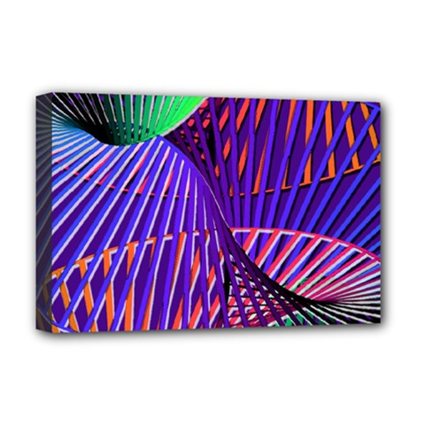 Colorful Rainbow Helix Deluxe Canvas 18  X 12   by designworld65