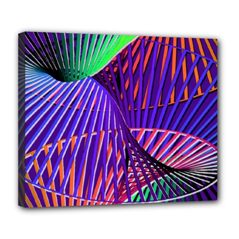 Colorful Rainbow Helix Deluxe Canvas 24  X 20   by designworld65