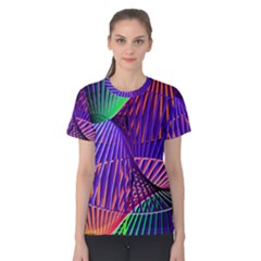 Colorful Rainbow Helix Women s Cotton Tee by designworld65