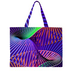 Colorful Rainbow Helix Zipper Large Tote Bag by designworld65