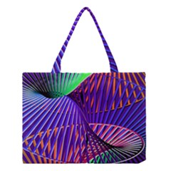 Colorful Rainbow Helix Medium Tote Bag by designworld65