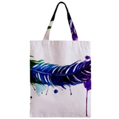 Watery Feather Classic Tote Bag by EverIris