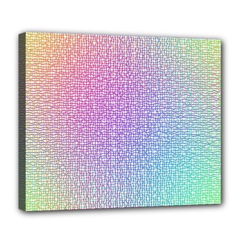 Rainbow Colorful Grid Deluxe Canvas 24  X 20   by designworld65