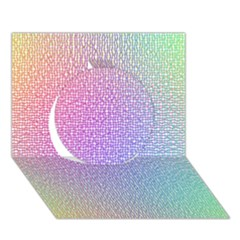 Rainbow Colorful Grid Circle 3d Greeting Card (7x5) by designworld65