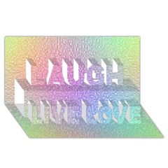 Rainbow Colorful Grid Laugh Live Love 3d Greeting Card (8x4) by designworld65
