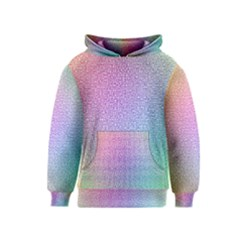 Rainbow Colorful Grid Kids  Pullover Hoodie by designworld65