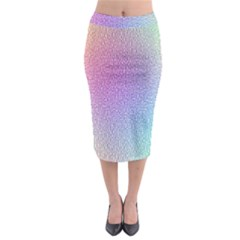 Rainbow Colorful Grid Midi Pencil Skirt by designworld65