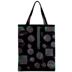 Come Down   Green Zipper Classic Tote Bag by Valentinaart
