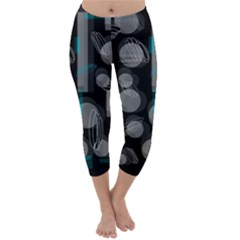 Come Down   Blue Capri Winter Leggings