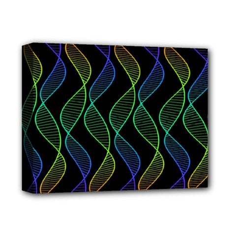 Rainbow Helix Black Deluxe Canvas 14  X 11  by designworld65