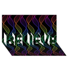 Rainbow Helix Black Believe 3d Greeting Card (8x4) by designworld65